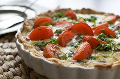 Vegetarian quiche Royalty Free Stock Photo