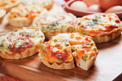 Vegetarian Quiche Lorraine royalty free stock photography