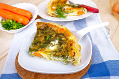 Vegetarian quiche Royalty Free Stock Image