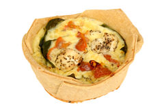 Vegetarian Quiche Stock Photos