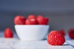 Vegetarian raspberry diet snack Royalty Free Stock Photo