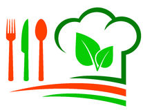 Vegetarian restaurant emblem Stock Images