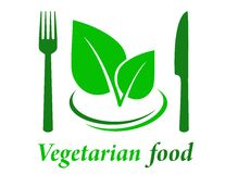 Vegetarian restaurant icon Stock Photos