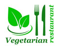 Vegetarian restaurant sign Stock Image