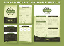 Vegetarian Restaurant Vector Brochure Template Stock Image