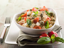 Vegetarian rice salad with tofu Stock Photos