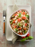 Vegetarian rice salad with tofu Royalty Free Stock Photography
