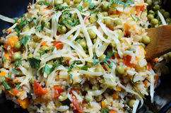 Vegetarian risotto Stock Image