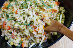 Vegetarian risotto Stock Images