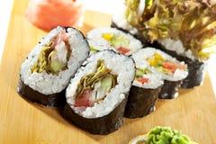 Vegetarian Roll Stock Photo