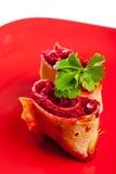 Vegetarian roll macro Stock Photos