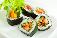 Vegetarian Roll Stock Photo