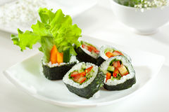 Vegetarian Roll Stock Image