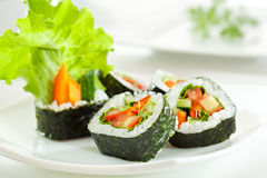 Vegetarian Roll Royalty Free Stock Image