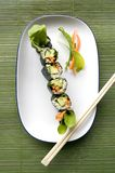 Vegetarian roll on top Royalty Free Stock Photos