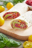 Vegetarian rolls stuffed with quinoa, table beet , carrots and o Royalty Free Stock Photos
