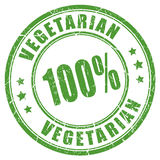 100 vegetarian rubber stamp. 100 vegetarian rubber vector stamp Stock Image