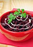 Vegetarian salad of beets Stock Photos