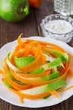 Salad of carrot and radish. Vegetarian salad of carrot and radish Stock Photos