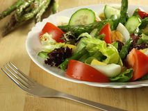 Vegetarian salad with eggs Stock Photos