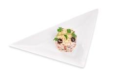 Vegetarian salad with mushrooms Stock Photo