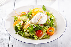 Vegetarian Salad with Poached Egg Royalty Free Stock Photography