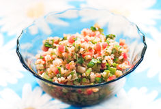 Vegetarian salad Tabouli Royalty Free Stock Images