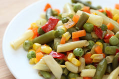 Vegetarian salad. Tasty vegetarian salad. Close-up Royalty Free Stock Photos