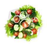 Vegetarian salad, top view Stock Photo