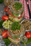 Vegetarian salad with wheat sprouts Stock Image