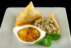 Vegetarian Samosa Royalty Free Stock Photo