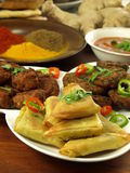 Vegetarian samosas Stock Images