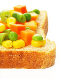 Vegetarian sandwich. Close up of vegetarian sandwich Royalty Free Stock Photography