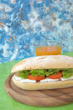 Vegetarian sandwich Stock Images