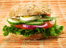 Vegetarian Sandwich Royalty Free Stock Image