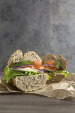 Vegetarian sandwich with fresh ingredients Royalty Free Stock Photo
