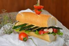 Vegetarian sandwich Stock Image