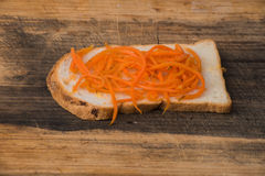 Vegetarian sandwich. It is very useful to have a bite tasty sandwich during the lunchtime and in the evening Stock Image
