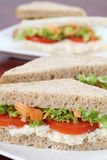 Vegetarian sandwiches royalty free stock photography