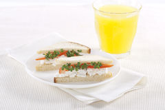 Vegetarian sandwiches Stock Photography