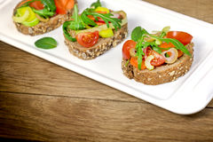 Vegetarian sandwiches Stock Images