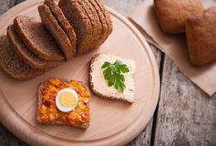 Vegetarian Sandwiches Stock Image