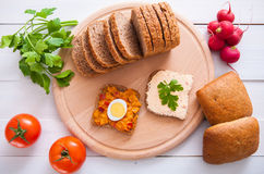 Vegetarian Sandwiches Royalty Free Stock Images