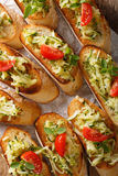 Vegetarian sandwiches with zucchini and tomatoes close-up on the Royalty Free Stock Images