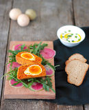 Vegetarian Scotch eggs Stock Photos