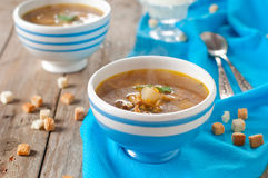 Soup with mushroom Royalty Free Stock Photography