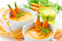 Vegetarian soup puree Stock Image