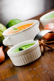 Vegetarian Soups Stock Photography