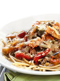 Vegetarian Spaghetti Stock Image