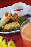 Vegetarian spring rolls Stock Photos